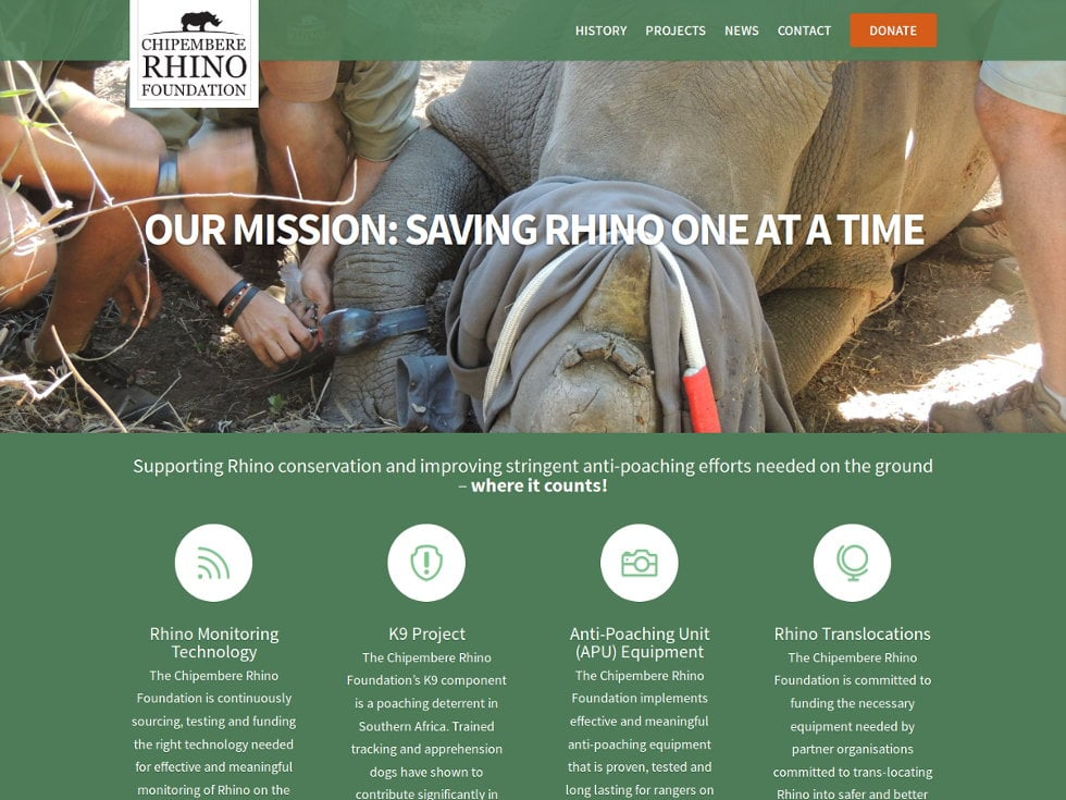 The Chipembere Rhino Foundation - Non-Profit Charity Deeply Commited to Rhino Conservation