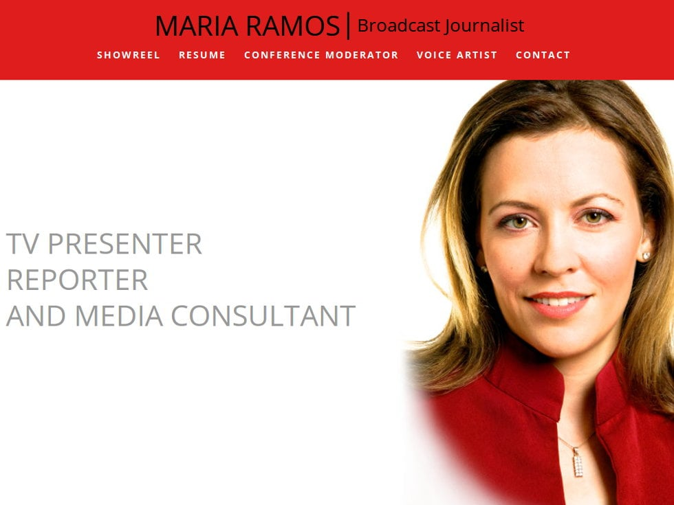 WordPress Website for Maria Ramos, Broadcast Journalist (BBC, Bloomberg and CNBC)