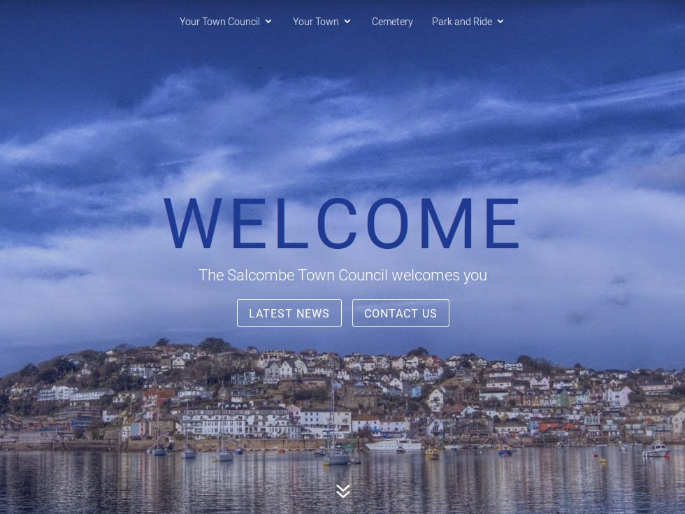 Custom WordPress Theme for Salcombe Town Council, Devon, Cornwall