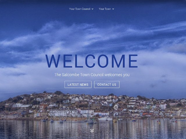 Salcombe Town Councul - Custom WordPress Theme - Website Design