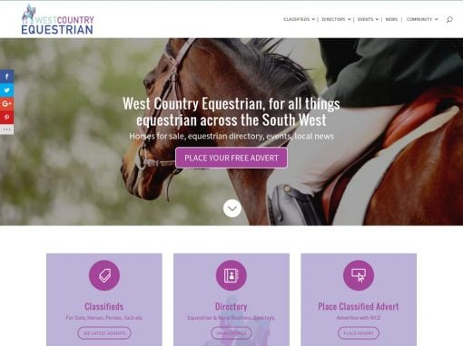 Classified Ads With Directory Website For West Country Equestrian