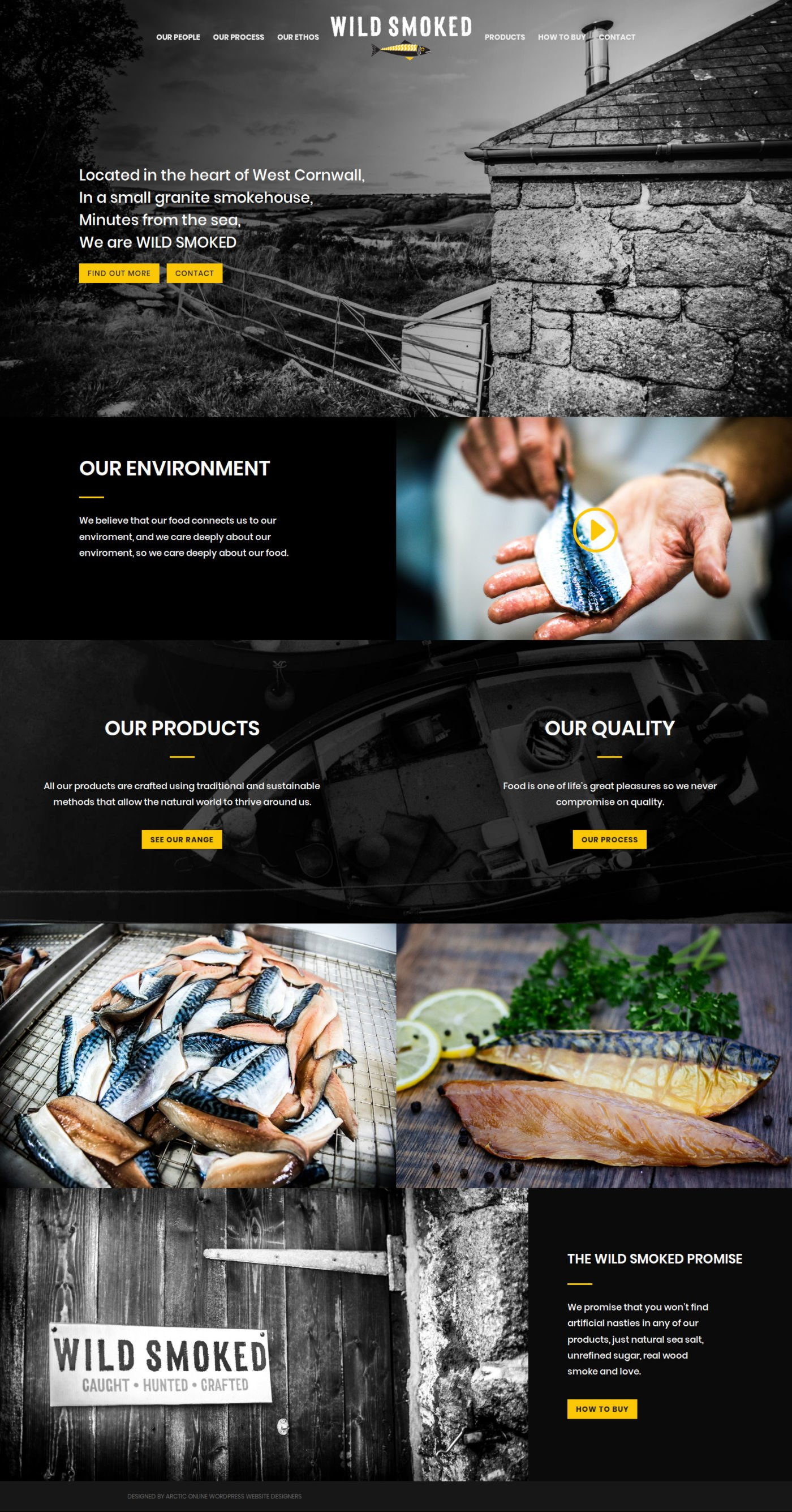 Home Page Screenshot of WordPress Website Design For Wild Smoked, Cornwall